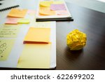 paper crumpled ball on table... | Shutterstock . vector #622699202