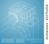 drawings of structures. pipes... | Shutterstock .eps vector #622701026