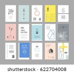 collection of universal cards.... | Shutterstock .eps vector #622704008