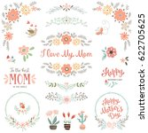 mother's day collection with... | Shutterstock .eps vector #622705625