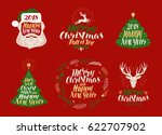 merry christmas and happy new... | Shutterstock .eps vector #622707902