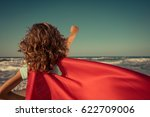 ready to travel  superhero... | Shutterstock . vector #622709006