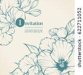floral frame background design... | Shutterstock .eps vector #622711052