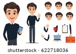 pack of body parts and emotions.... | Shutterstock .eps vector #622718036