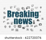 news concept  painted blue text ... | Shutterstock . vector #622720376