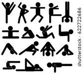 body workout exercise   yoga...   Shutterstock .eps vector #622722686