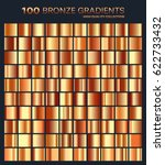 bronze  orange gradient metal... | Shutterstock .eps vector #622733432
