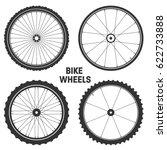 bicycle wheel symbol vector....   Shutterstock .eps vector #622733888