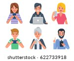 people avatars with different... | Shutterstock .eps vector #622733918