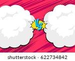 versus letters fight... | Shutterstock .eps vector #622734842