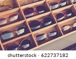 sunglasses fashion display in... | Shutterstock . vector #622737182