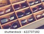 sunglasses fashion display in... | Shutterstock . vector #622737182