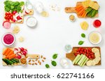 variation of healthy vegan... | Shutterstock . vector #622741166
