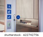 disability signage lift... | Shutterstock . vector #622742756
