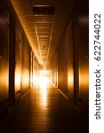 Corridor With Warm Light At Th...