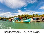 traditional floating village on ... | Shutterstock . vector #622754606