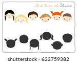 find the correct shadow  ... | Shutterstock .eps vector #622759382