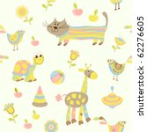 seamless baby background | Shutterstock .eps vector #62276605