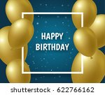 background with gold balloons ...   Shutterstock .eps vector #622766162