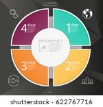 business circle infographic... | Shutterstock .eps vector #622767716