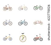 collection of bikes with... | Shutterstock .eps vector #622770026