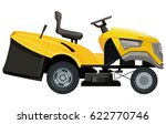 Yellow Lawnmower On A White...