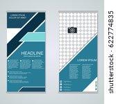 modern roll up business banners ... | Shutterstock .eps vector #622774835