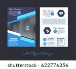 a4 flyer front and back... | Shutterstock .eps vector #622776356