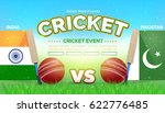 india and pakistan cricket... | Shutterstock .eps vector #622776485