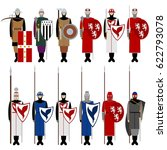 medieval knights  weapons ...   Shutterstock .eps vector #622793078