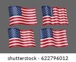 3d waving flag of the united...   Shutterstock .eps vector #622796012