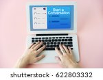 communication connection... | Shutterstock . vector #622803332