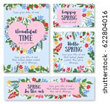 hello spring floral greeting... | Shutterstock .eps vector #622804016
