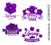 spring flower bouquet isolated... | Shutterstock .eps vector #622804415