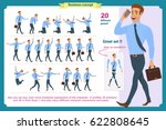 big set of businessman... | Shutterstock .eps vector #622808645