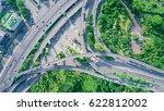bird view of highway... | Shutterstock . vector #622812002