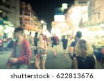 blurred image of busy night... | Shutterstock . vector #622813676