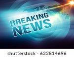 graphical breaking news outline ... | Shutterstock . vector #622814696