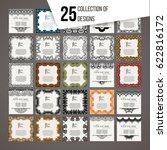 set of vector design templates. ... | Shutterstock .eps vector #622816172