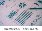 colorful graphs  charts ... | Shutterstock . vector #622816175