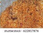 old metal iron rust background... | Shutterstock . vector #622817876