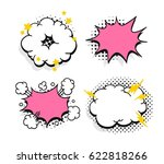 set of pop art explosion and... | Shutterstock .eps vector #622818266