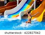 swimming pool slides for child... | Shutterstock . vector #622827062