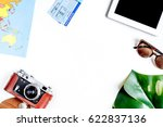 tourist lifestyle with camera...   Shutterstock . vector #622837136