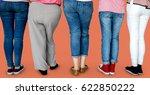 group of human leg standing in...   Shutterstock . vector #622850222