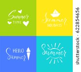 set of emblems with summer... | Shutterstock .eps vector #622854656