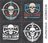 skull vector logos. pirates... | Shutterstock .eps vector #622860146