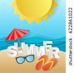 illustration concept of summer... | Shutterstock .eps vector #622861022