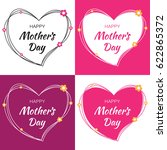 happy mothers day vector... | Shutterstock .eps vector #622865372