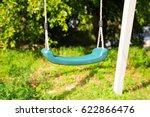 children swing at playground | Shutterstock . vector #622866476